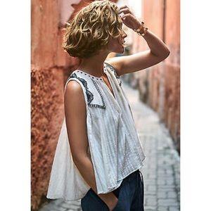 ANTHROPOLOGIE Floreat Milana Sleeveless Swing Top